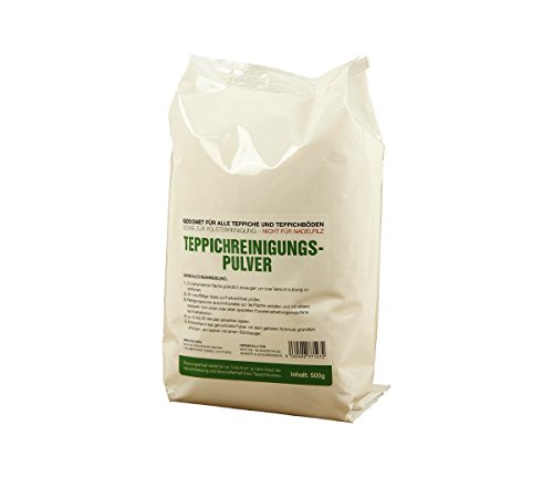 McFilter Teppichreinigungspulver | Inhalt 500 Gramm | geeignet für alle Teppiche und Teppichböden, sowie zur Polsterreinigung | von McFilter