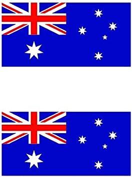 Two Pack Australian Flag Sticker FA Graphix Decal Aussie Australia