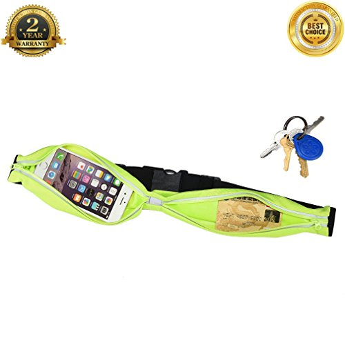 Running Fanny Pack Hide Big Space Cell Phone Holder Waterproof Pouch Reflective Stripe Adjustable Runners Belt from 29.5