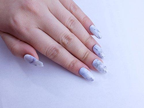 White Marble Custom Press on Nails by Unicornails