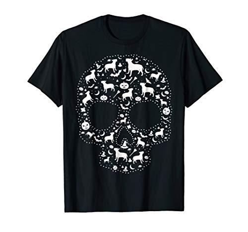 (Pooch Sugar Skull T-shirt cute Bull Terrier)