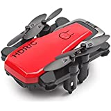 Gbell Mini Quadcopter Foldable RC Drone - D2WH With Wifi FPV 0.3MP HD Camera 2.4G 6-Axis RC Toys Gifts for Boys Girls Kids Adults,Black Red White