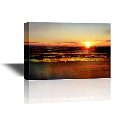 Abstract Landscape with Sea and Beach at Sunset Gallery
