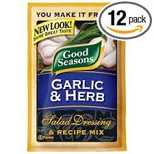 Good Seasons Salad Dressing & Recipe Mix .6-.75oz Packets (Pack of 12) (Garlic & Herb .75oz) (Dressing Garlic Italian)