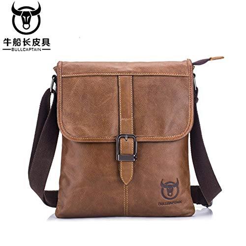 Outdoor piatta Sports piccola Business Ishiné Superior De Marrón Capa Cuero Casual Borsa Soft vfqpWwES