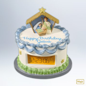 Happy Birthday Jesus! 2012 Hallmark Ornament - Happy Birthday Ornament