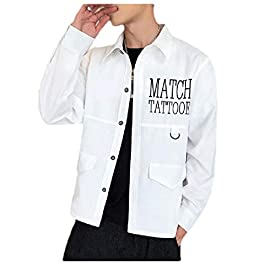 Men's  Long Sleeve Button-up Slim Fit Dress Shirts
