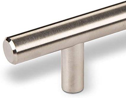 10 x SO-TECH/® Tirador de MuebleG14 Acero Inox Macizo Tirador Barra Distancia Agujeros 192 mm