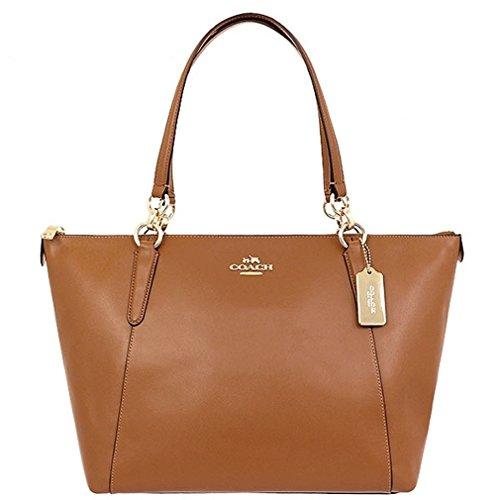 Coach Leather Shopper Tote Handbag
