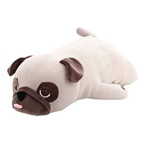 Home Leisure Store-Plush Toy Large Pug Doll Lying Dog Plush Toys Cute Funny Pug Sleeping Plush Pillow 26.77