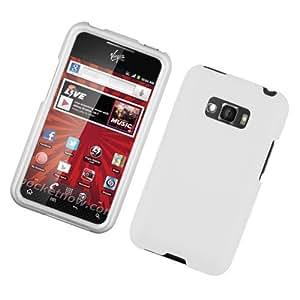 LG Optimus Elite/Ls696 Rubberized Protector Case White