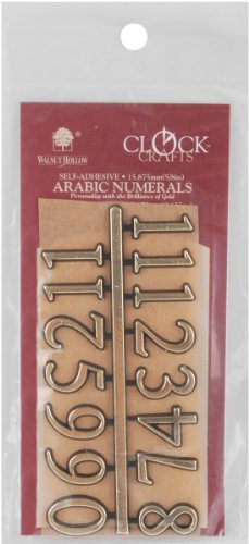 Walnut Hollow Arabic Clock Numerals .625