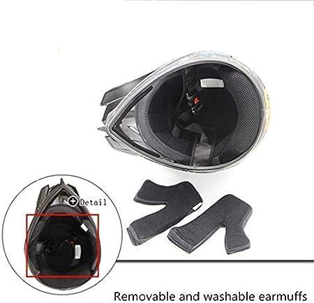 Handschuh + Brille + Maske Mountain Motocross Helm XL YXCXY Motorradhelm ECE zertifizierter Helm Geschenk personalisierter Helm f/ür urbanes Motorrad