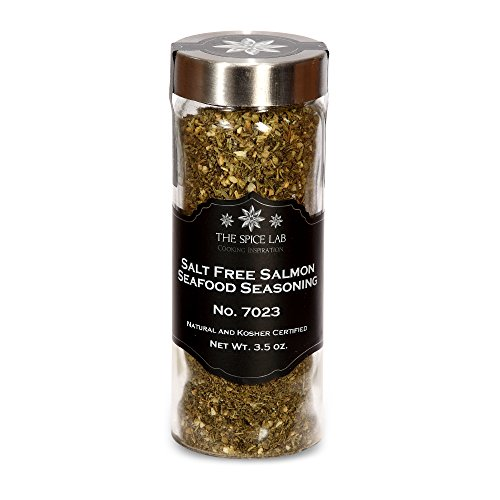 The Spice Lab No. 23 - Salt Free Salmon Seafood Seasoning, Tall Jar