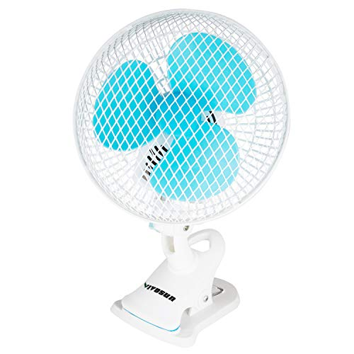 VIVOSUN 6 inches Portable Desk Clip On Fan for Home and Grow Tent Room, 2-Speed, Adjustable Tilt, Whisper Quiet Operation