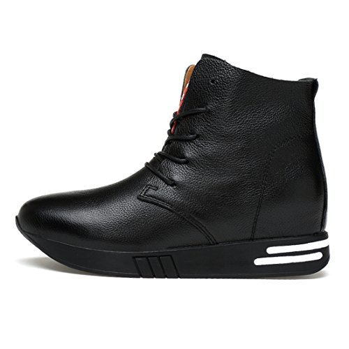 Minitoo Womens Cap-Toe Lace-Up Fashion Ankle Boots Black