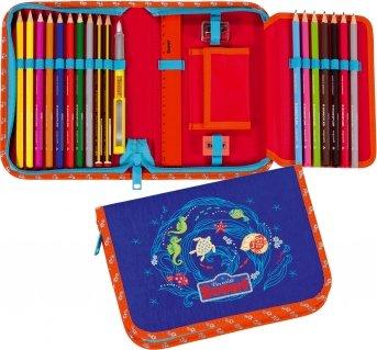 Scout - Estuche para lápices de colores (20 cm, 22 unidades ...