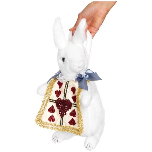 [Wonderland Rabbit Purse Costume Accessory] (Child White Rabbit Costume Alice In Wonderland)