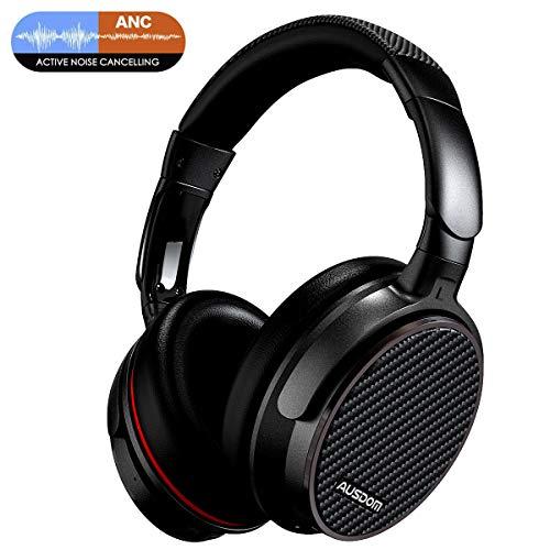 Ausdom ANC7 Active Noise Cancelling Wireless Bluetooth Headphone - Best Bass & Quiet Comfort,Black