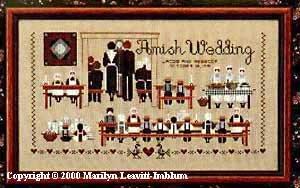Amish Cross Stitch - Amish Wedding Cross Stitch Chart