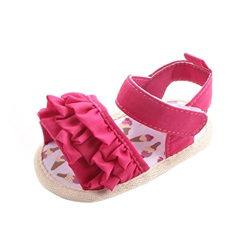 [해외]여자 공주 샌들, Mosunx (TM) 신생아 꽃 소프트 솔 신발 미끄럼 방지 운동화/Girls Princess Sandals , Mosunx(TM) Newborn Flower Soft Sole Shoes Anti-s