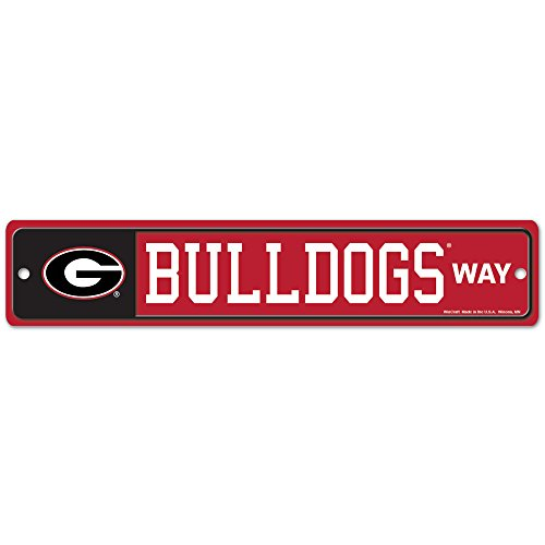 WinCraft NCAA University of Georgia 89270012 Street/Zone Sign, official team colors, 4.5'' x 17'' by WinCraft