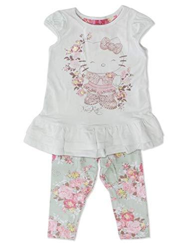Conjunto Blusa e Legging em Cotton Floral Hello Kitty