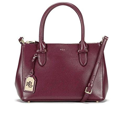 Lauren Ralph Lauren Newbury Double Zip Satchel Bag, Rosewood