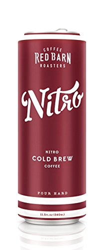 Nitro Cold Brew Coffee (12 11.5 fl. oz. cans) | Red Barn Coffee Roasters | Shelf Stable - No Preservatives | 3 Ingredients - Coffee, Water, Nitrogen | 240 MG Caffeine