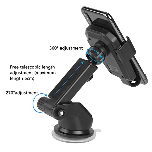 Wireless Car Charger, TUREAL Windshield Car Phone Mount Holder, Qi 10W Wireless Charging Strong Sticky Gel Pad Compatible iPhone X, 8/8 Plus, Samsung Galaxy S8/S8 Plus/S7/S7 edge/S6 edge Plus/Note 8/5 by TUREAL (Image #5)