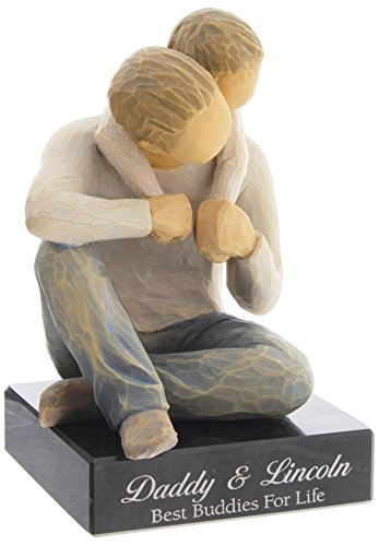 DEMDACO Willow Tree That s My Dad Figurine with Personalized Engraved Marble Base