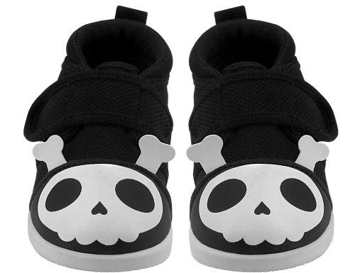 YochiYochi Captain Zuga Skull Squeaky Shoes, Size 4