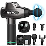 RENPHO Massage Gun, Deep Tissue Muscle Massager, Powerful Percussion Massager Handheld with Portable Case for Athletes, Back Neck Shoulder Soreness Stiffness Knots Tension Cramp Relief
