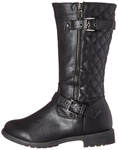 Lucky Top Pack-95K Girls Kids Moc Side Buckles Synthetic Riding Zipper Boots