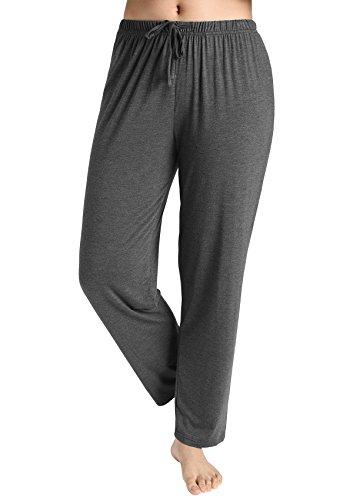 Latuza Women's Knit Loungewear Pajama Pants M Dark Gray