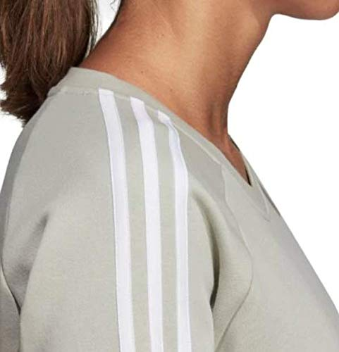 adidas Women's Essentials 3-Stripes Crewneck Sweatshirt (S, Ash Silver) by adidas (Image #5)