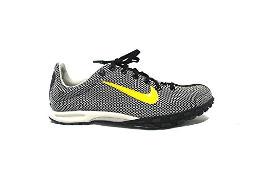 Nike Zoom Waffle XC VIII Unisex Cross Country Spikes (12.5 D Medium, Black/Varsity Maize/Natural Grey)