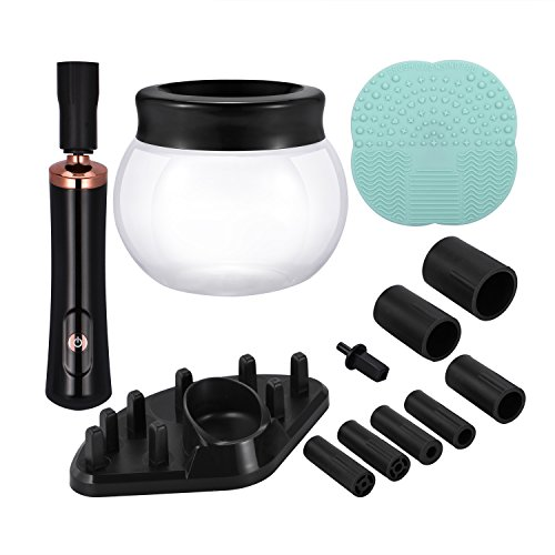 Makeup Brush Cleaner, Portable Automatic Brush Dryer and Cleaner, Deep Thorough Cleaning in Seconds, Suits Most Make Up Brush, Black Cleaning Spinner/Kits for Women … by ADDSMILE (Image #8)