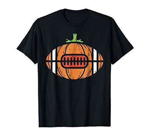 Halloween Shirt Football Pumpkin Sport Player Costume -