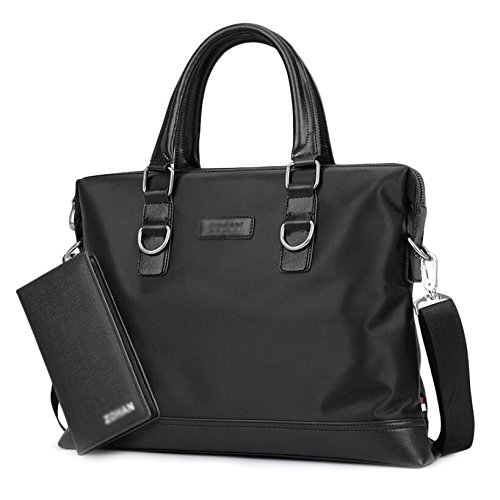 Herren Handtaschen Oxford Tuch Schulter Messenger Bag Business Aktentasche Casual Rucksack Handtasche Männer Tasche Black