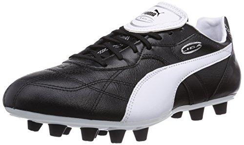 Puma Liga Classico FG, Herren Fußballschuhe, Schwarz (black-white-puma silver 01), 42.5 EU (8.5 Herren UK)