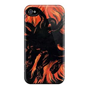 Shock-Absorbing Cell-phone Hard Covers For Iphone 4/4s (Aqk16703NwDt) Support Personal Customs HD Guns N Roses Skin