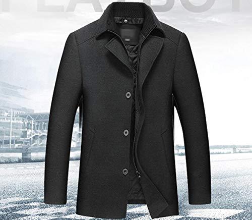 Ljxwh colore A Staccabile Colletto 3xl Calda Zip Lana Gray Misto Dimensioni Da Di In Bavero Invernale S Uomo Maglia Nero Con Giacca Cotone 4xl HxOZrAqHw