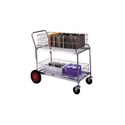 "Wesco Industrial Products 272231 Deluxe Large Wire Office Cart, 250-lb. Load Capacity, 43"" L x 23.75"" W x 38.5"" H from Wesco"