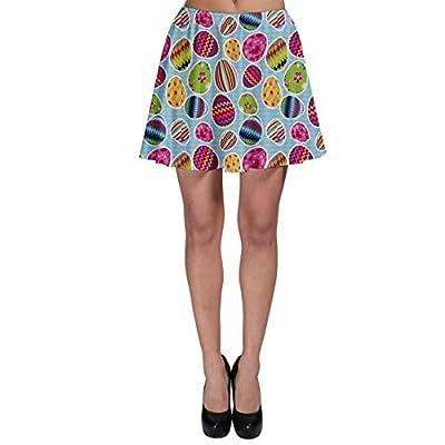 Colorful Easter Eggs Pattern Skater Skirt