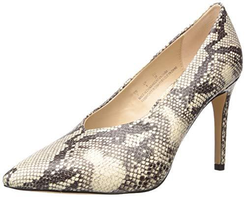 The Drop Women's Taylor High Vamp Stilleto Pump, Snake Print Faux Leather,...