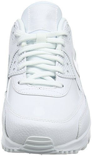 Femme Air Nike Cassé Max Whitewhitewhite Blanc Chaussures 90 Gymnastique 101 Leather de WMNS ZZprqH8