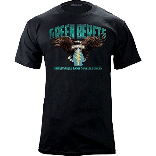 - USAMM Special Forces Green Beret Graphic T-Shirt (X-Large, Black)