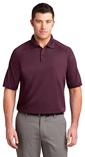 Port Authority Dry Zone Ottoman Polo, Maroon, XXX-Large