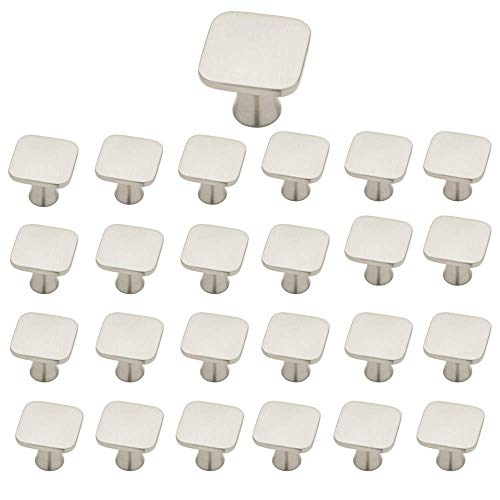 - Aviano 25 Pack Satin Nickel Cabinet Hardware Square Knob - 1-1/8